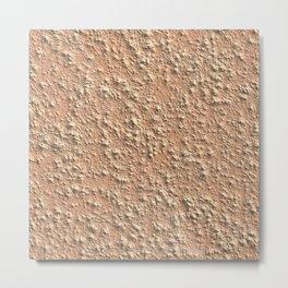 Grunge cement pastel rose wall Metal Print
