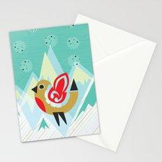 Festive Yule Snow Robin Stationery Cards