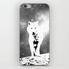 Walking on the moon Wolf iPhone & iPod Skin