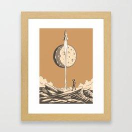 Rocket Moon Framed Art Print