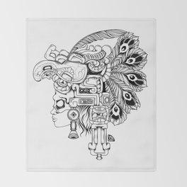 Mayan Warrior Throw Blanket