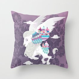 Flying Lion of Venice Throw Pillow