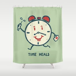 Time heals Shower Curtain