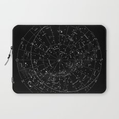 Constellation Map - Black & White Laptop Sleeve