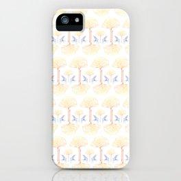 Ginkgo Gradient (white) iPhone Case