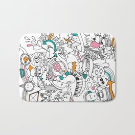 My Happy Doodle Bath Mat