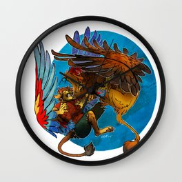 Sphinx vs. Gryphon Wall Clock