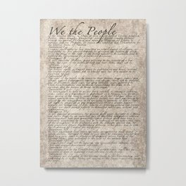 US Constitution - United States Bill of Rights Metal Print
