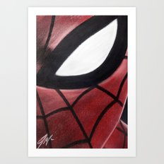 SPIDEY FACE Art Print