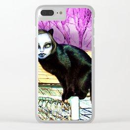 Black Cat Nahuala Clear iPhone Case