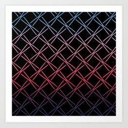 Fences Abstract Ombre Art Print