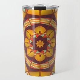 Multicolored geometric flourish Travel Mug