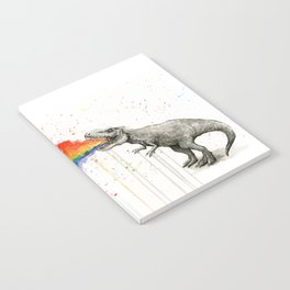T-Rex Dinosaur Vomits Rainbow Notebook