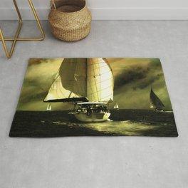 sailing race Rug