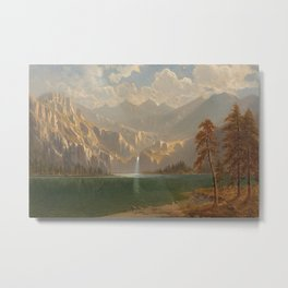 'In Yosemite on a Summer's Day' landscape painting by Gilbert Munger Metal Print