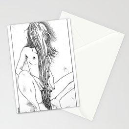 asc 465 - Le rideau de pudeur (The modesty curtain) Stationery Cards
