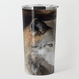 The Eyes of a Wolf Travel Mug
