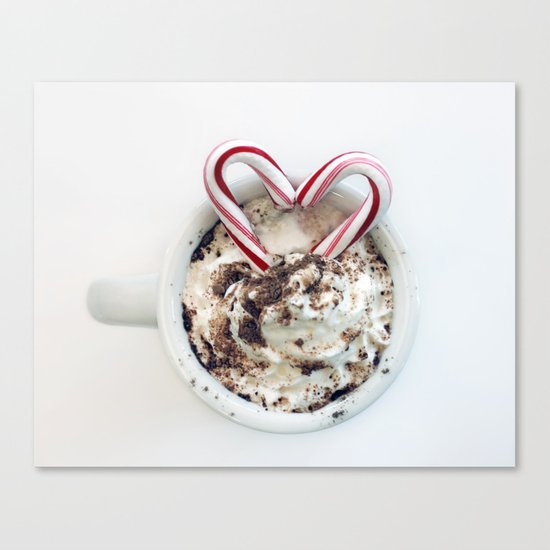 i heart hot chocolate Canvas Print
