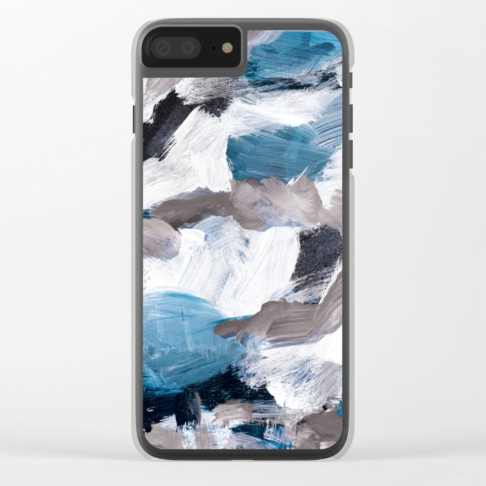 abstract painting VI Clear iPhone Case