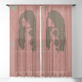 Moon Maiden in Adobe Sheer Curtain