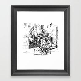 London Bridge Buskers - Tap your feet, let's do it - Framed Art Print