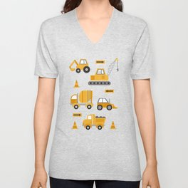 Construction Trucks Unisex V-Neck