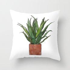 Aloe Vera - Watercolor Illustration Throw Pillow