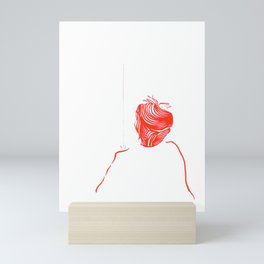 The raindrops in his shoulder Mini Art Print