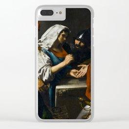 Valentin de Boulogne - Fortune Teller - Renaissance Fine Art Retro Vintage Oil Painting Clear iPhone Case