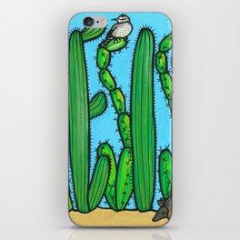 RESIST - armadillo, cactus wren, scorpion on THE WALL iPhone Skin