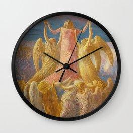 L'Assunzione (Assunta), Portrait by Gaetano Previati Wall Clock