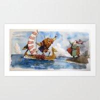 viking Art Prints featuring Viking by Jose Luis Ocana