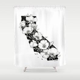 California In Bloom Shower Curtain