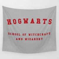 hogwarts Wall Tapestries featuring Hogwarts by Fabian Bross