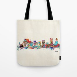 Portland Oregon skyline Tote Bag