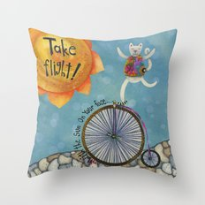 Take Flight With The Sun On Your Face Throw Pillow