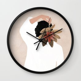 With a Flower Wall Clock