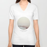 maps V-neck T-shirts featuring Maps by Tina Crespo