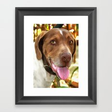 Arthur The Hunting Dog Framed Art Print