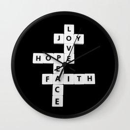 Love and joy Wall Clock