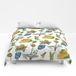 Watercolour bugs Comforters