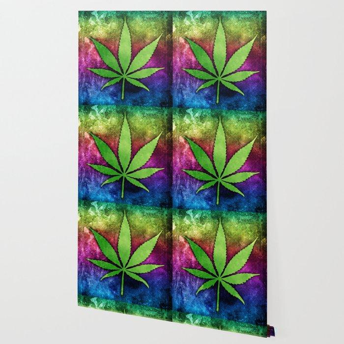 Pot Leaf Wallpaper by epicnerd   Society6