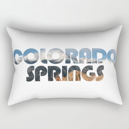 COLORADO SPRINGS and Pikes Peak Rectangular Pillow