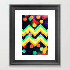 Bokeh Chevron Framed Art Print
