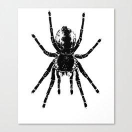 Scary Tarantula Spider Halloween Black Arachnid Canvas Print