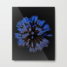 Dew On Dandelion, Wild Mandala Metal Print
