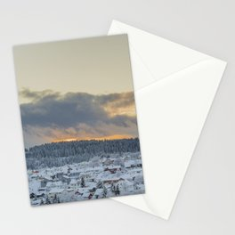 Intense Winter Sunset in Norway Stationery Cards