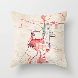 Bullhead City map Arizona AZ Throw Pillow
