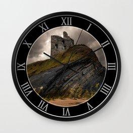 Forgotten castle in western Ireland Wall Clock