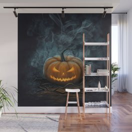 Halloween Pumpkin Wall Mural